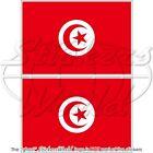 TUNISIAN Flag TUNISIA Vinyl Bumper Sticker Decal x2