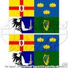 "IRELAND 4 Province Flag EIRE 4"" Bumper Sticker Decal x2"