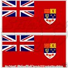 CANADIAN Red Ensign CANADA Flag Bumper Sticker 110mm x2
