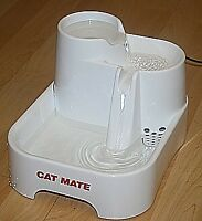 Cat Mate Pet Water Fountain Drinking Bowl Cats Dogs