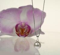 Neu ! Halskette  925 Silber mit SWAROVSKI ELEMENTS  Anhänger Crystal White Pearl
