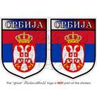 """SERBIA Serbian Shield Bumper Sticker-Decal 75mm(3"""") x2"""