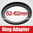 52mm to 62mm Male - Female Lens Step Up Ring Adapter 52-62 Lens Hood Cap Filters