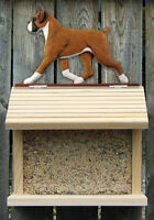 Bird Feeder W/ Boxer Natural on Peak. Home,Yard & Garden Dog Products & Gifts.