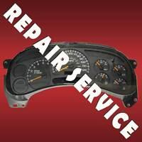 2005 GM Silverado Duramax Diesel Speedometer Instrument Gauge Cluster Repair
