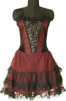 Corset Goth Halloween Vamp Black Victorian Punk Prom Party Mini Dress Girl 1528
