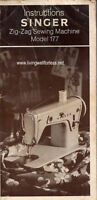 Singer  177 Zig-Zag Sewing Machine Instructions Manual on CD