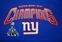New York Giants Super Bowl XLVI Champions Hooded Sweatshirt Size MEDIUM Hoodie