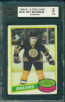1980 81 OPC #140 RAY BOURQUE RC ROOKIE CARD KSA 3 VG BRUINS