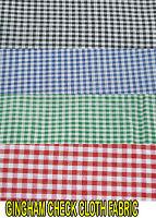 Gingham Check Fabric 1/8 inch square POLYCOTTON multipurpose fabric per meter