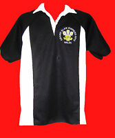 WALES GRAND SLAM 2012  WINNERS RUGBY STYLE SHIRT 6 NATIONS NEW S - 5XL BIG BLACK