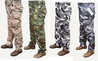 MENS ARMY CARGO CAMO COMBAT WORK TROUSERS  30 - 54 BNWT strong tough great price