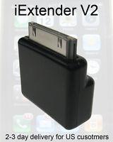 Dock Extender V2 30 pin Adaptor BLACK Basic X1 deal for iPods iPhones iPads etc.