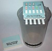 1 Pack 5 Panel Instant Drug Test & 190 ml Beaker Cup w/ Temp, Tests 5 Drugs