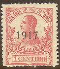 EDIFIL. RIO DE ORO. 1917 Nº 91. NUEVO GOMA ORIGINAL SIN FIJASELLOS