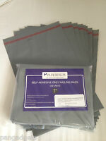 Mailing Bags Postage Poly Plastic Bags Grey 10' x 14' (250mm x 330mm) 50