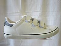 MENS HI-TEC VELCRO TRAINERS. WHITE AND NAVY BLUE