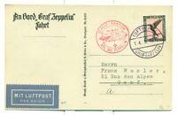 GRAF ZEPPELIN FLIGHT CARD 1930 SIEGER 86B, PHOTO CARD