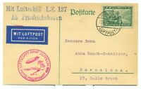 GRAF ZEPPELIN FLIGHT CARD 1929 SIEGER 24A