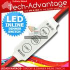 12V LED LIGHT ON/OFF + DIMMER + BURST MODE OPTION IN-LINE MINI COMPACT SWITCH