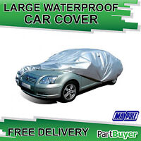 LARGE PREMIUM WATER PROOF CAR COVER WITH VENTS POLYESTER SILVER MAYPOLE MP9333