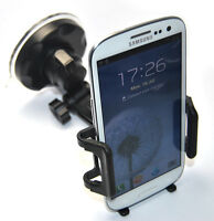 """NEW IN CAR HOLDER WINDSCREEN SUCTION MOUNT CRADLE FOR BIG HTC ONE X 4.8"""" SCREEN"""