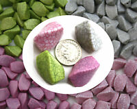 10 Large Crackle Marble Effect Twisted Acrylic Jewellery Beads 21mm x 15mm