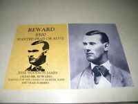 JESSE JAMES 8X10 VINTAGE PHOTOGRAPH & AN 8X10 VINTAGE WANTED POSTER  ONLY $9.95