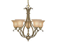 new vaxcel 5L chandelier ceiling monrovia antique brass lighting lamp CH35405A/C