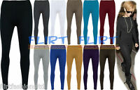 Womens Full Length Leggings Ladies Stretch Pants Long Gym Legging 8 10 12 14