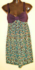 New VALLEYGIRL ladies navy/teale/black/cream/yellow floral dress size S