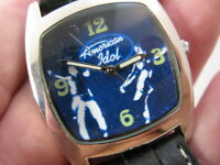 AMERICAN IDOL, Black Leather Band with Stars, COOL, Ladies/Kids WATCH, 953, L@@K