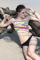 Ladies 2 piece Multicolour Womens Strapless New Bikini Swimwear Swimsuit AU Size