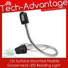 12V 6W 8-LED GOOSENECK FLEXIBLE LED READING LIGHT & SWITCH - BOAT/CARAVAN/BED