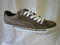 "MENS PUMA TRAINERS ""BROWN AND WHITE"""