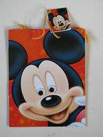 "Disney Gift Bag With Tag Medium 22.5cm x 17.5 (9"" x 7"") Party Micky Mouse Donald"