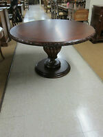 """THEODORE ALEXANDER ROUND DINING TABLE NEW CARVED EDGE AND BASE 51 1/2"""" ROUND"""