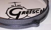 """Gretsch USA Drum Hoop Die Cast Powder Coat Gunmetal 8""""  5 Hole Broadkaster"""