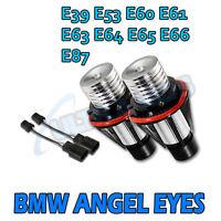 WHITE LED Angel Eye Marker Kits Xenon For BMW E39 E53 E60 E61 E63 X5 5 Series .