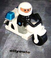 Lego Duplo Polizei Motorrad weiß + Polizist Police aus 5679 2673 Fahrer u.Helm