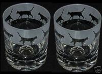 FABULOUS CAT GIFT - set of 2 GLASS TUMBLERS