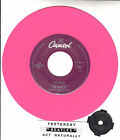 "BEATLES Yesterday & Act Naturally PINK VINYL 7"" 45 record NEW + juke box strip"