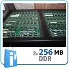 Kit of 2 x DIMM 256 Mb DDR333 / DDR266 - Non ECC PC Ram Memory Memoria
