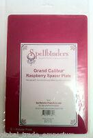 "NEW GC-003 Spellbinders Grand Calibur Raspberry Spacer Adapter Plate 8.25"" x 12"""
