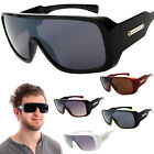 Retro Goggle Style Biohazard Large Shield Mens Celebrity Fashion Sunglasses