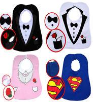 New Tuxedo with Bow Tie Prince Boy's Superman Hero Feeding Baby Bibs Party Gift
