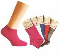 Kids Girls 5 Pairs Pk Trainer Sneaker Socks Pink/White/Red/Blue/Grey sizes 23-34