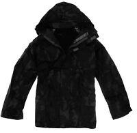 100% WATERPROOF WINDPROOF JACKET Mens S-XXL zip up hooded kagool black camo coat