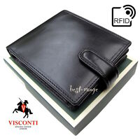 Wallet Real Leather Black Visconti New in Gift Box  (MZ5)