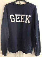 Topshop Navy White Geek Sweater Jumper BNWT Petite 8 10 12 M/L College Zoella
